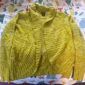 Yellow Speckled Cardigan